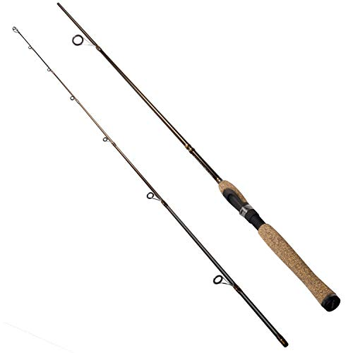 PLUSINNO Fishing Rod, Portable 2 Piece Spinning Casting Rods, Graphite Composite Blank, 3A Cork Handle, Medium Fast Action 7