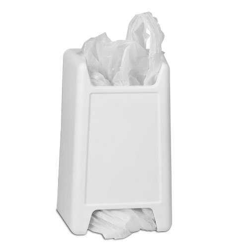 Plastic Bag Keeper for Reusable Grocery Bags, White by Gadjits B0000ZKW8K ホワイト