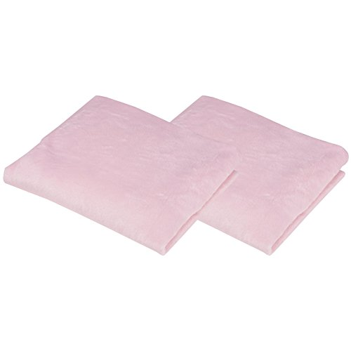 BH Bedding Heavenly Soft Chenille Cradle Sheet, 2 Pack - Pink