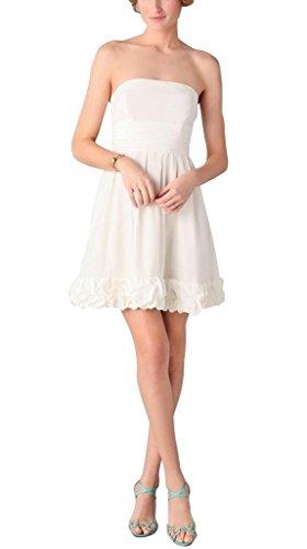 Elfenbein Abendkleider BRIDE Kurz Satin Elegante GEORGE n7X04BO