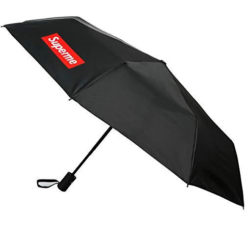 Peacemoer Repel Windproof Travel Umbrella with Creative Design (Black)