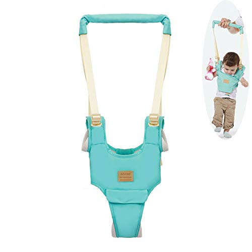 Baby Walker,Breathable Handheld Baby Child Harnesses Learning Assistant Walker Toddler Walking Helper Kid Safe Walking Protective Belt (Light Green)