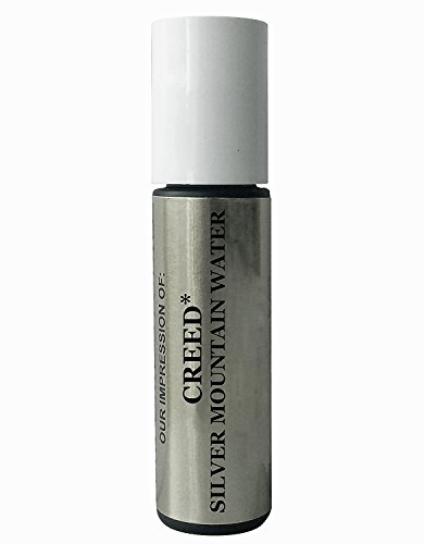 Premium *Version of *Creed_Silver_Mountain_Water* Cologne Oil For Men - Concentrated Roll On Type Perfume Oil in a Frosted Green Rollerball Glass Bottle .33 Oz/10ml
