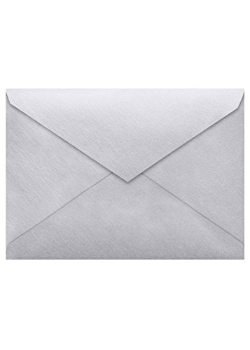 Lee BAR Envelopes (5 1/4 x 7 1/4) - Silver Metallic (50 Qty) | Perfect for Invitations, Notecards, Announcements and More! | LEEBAR-06-50 (A7 Pointed Flap Envelope)
