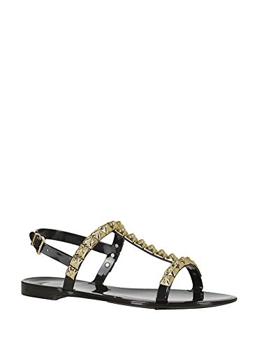 low shipping fee sale online Stuart Weitzman Women's JELROSEJELLYBLACK Black Leather Sandals latest collections cheap online buy cheap nicekicks YCxZx0R