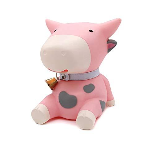 Baidecor Cute Dairy Cow Money Box Piggy Bank Pink