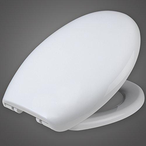 WOLTU WS2542 Wc Sitz mit Absenkautomatik, Fast Fix/Schnellbefestigung, Soft-Close/Take off Scharniere, Antibakteriell