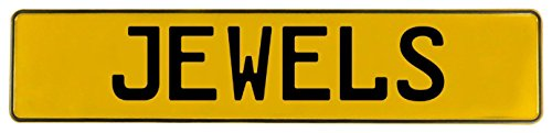 (Vintage Parts 687582 Yellow Stamped Aluminum Street Sign Mancave Wall Art (Jewels))