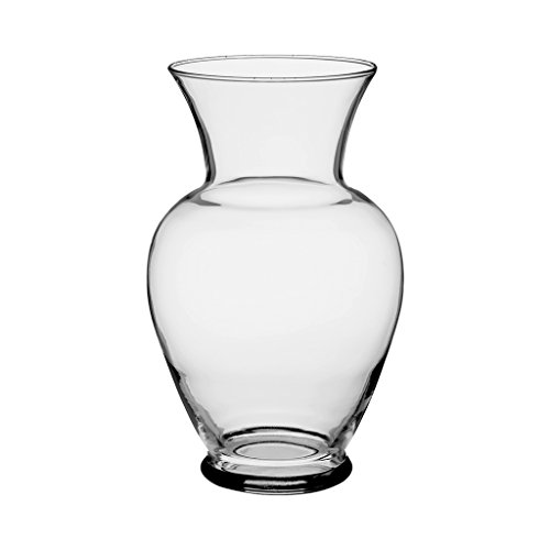 "Floral Supply Online 10 5/8"" Clear Spring Garden Vase - Decorative Glass Flower Vase for Floral Arrangements, Weddings, Home Decor or Office. from Floral Supply Online"
