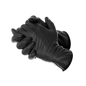 Ammex Black Disposable Nitrile Gloves (Made I...