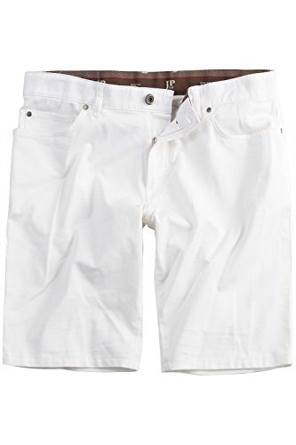JP 1880 Homme Grandes tailles Bermuda 5 poches blanc 29 703675 20-29