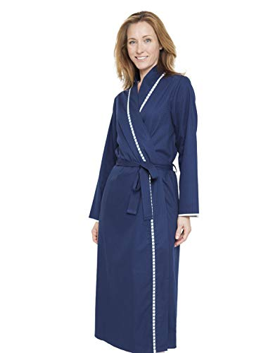 Nora Dressing Gown Tile Adele Blue Women's Loungewear Robe Rose Bath 1296 Cyberjammies p1ZS0gwEn