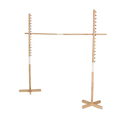 Get Out! Wooden Limbo Set, 5' Feet Tall – Colored Limbo Stick with Self-Standing Base – Fun for All Ages and Occasions for $<!--$39.99-->