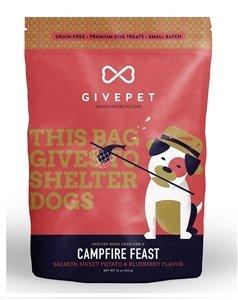 GivePet Campfire Feast Pet Treats Salmon Sweet Potato & Blueberry Flavor in 12 oz Bag