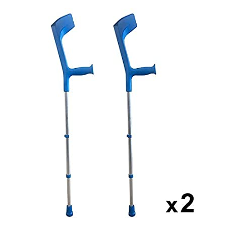 PEPE-MULETAS, Pack de 2 muletas para adulto, Muletas regulables de aluminio, Color azul: Amazon.es: Salud y cuidado personal