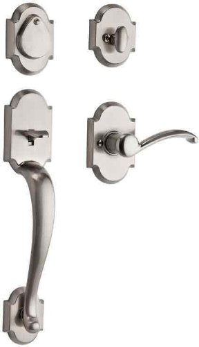 Kwikset Austin Single Cylinder UL Handleset w/Austin Lever featuring SmartKey in Satin Nickel ()