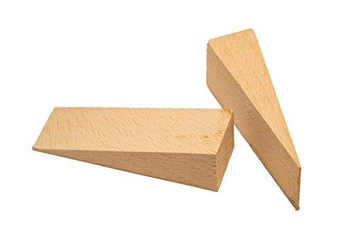 "haggiy Wood Wedges, Furniture Stabilizer, Door Stopper made of Natural Beech 2.65"" x 0.79"" x 0.47"" (10 Pcs.)"