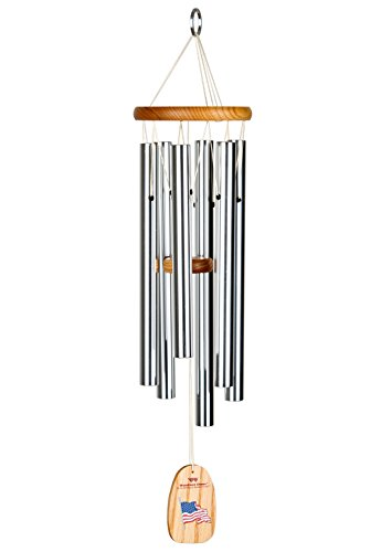 Woodstock Chimes USA Star Spangle Banner Chime, Silver]()