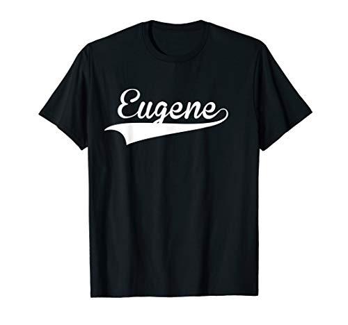 EUGENE Baseball Styled Jersey Tee Shirt Softball