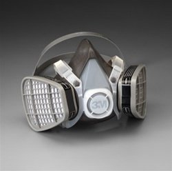 Large 3M Half Facepiece Respirators 5000 Series - Disposable Organic Vapors/Acid Gas Respirator Assembly - (6 Each) - R3-5303 (Respirator Gas Assembly)