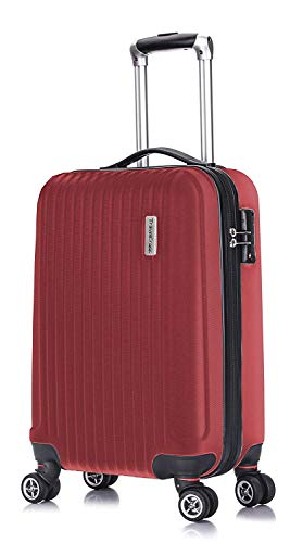 Case 21 Spinner (TravelCross Berkeley Classic 21'' Carry On Lightweight Hardshell Spinner Luggage (Red))
