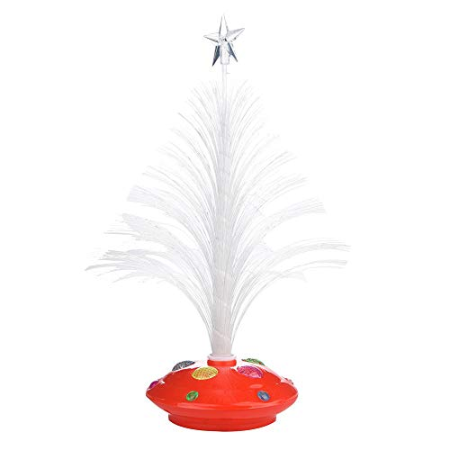 Iskylie Colors Light Lamp Changing Mini ChristmasXmas Tree Christmas Led Ornament Christmas Light Decoration (Red)