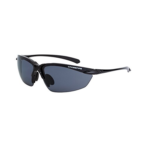 - Crossfire Eyewear 9614 Sniper Polarized Safety Glasses with Smoke Polarized Lens and Black Frame
