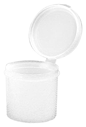 Dynalon 226254-2000 Polyethylene Resin Hinged Lid Lab Storage and Specimen Container, 2oz Capacity (Case of 100)