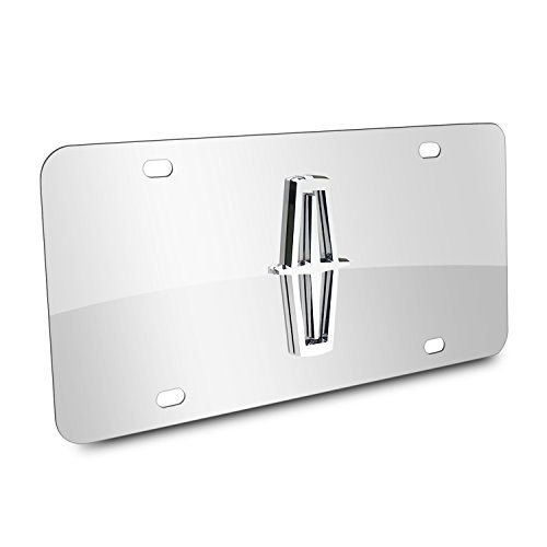 Lincoln 3D Logo Chrome Stainless Steel License Plate