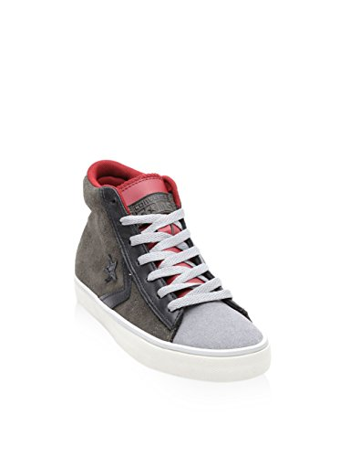 Leather Baskets Montantes Pro Vulc Converse Homme Gris tZq5wIIW