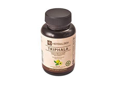 Herbalbox Triphala Natural Herbal Supplement Supports Healthy Digestion Natural Antioxidant Ayurvedic 90 Vegetarian Capsule