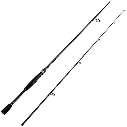 Fiblink Graphite Medium Power Spinning Fishing Rod Spin Pole with Fast Action (7′ Medium Power) Review
