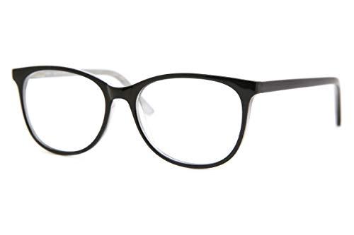 SmartBuy Collection Julia Unisex Prescription Eyeglass Frames - Full Rim Square Designer Glasses Frame - Julia Black and White