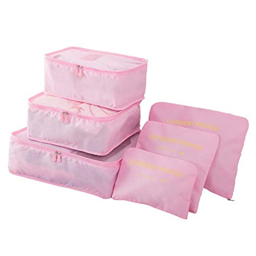 MOPOLIS Travel bag bag luggage bag underwear finishing package large six sets GA | Color - Pink ()