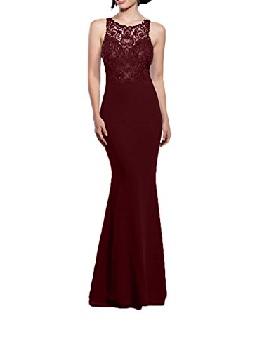 Abendkleider mia Abiballkleider Burgundy La Lang Brautmutterkleider Braut Schwarz Meerjungfrau Promkleider Spitze Chiffon ZRxaFwqI4