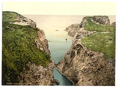 HistoricalFindings Photo: [Rope Bridge, Carrick-a-Rede. County Antrim, Ireland] (LOC) (Carrick A Rede Rope Bridge County Antrim)