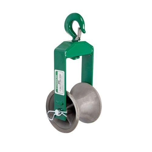 Greenlee 650 Hook Sheave, 4000-Pound Capacity, 6-Inch from Greenlee