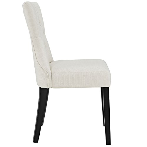 Modway Silhouette Tufted Upholstered Fabric Parsons Dining Side Chair in Beige by Modway (Image #3)