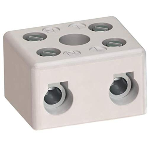 Terminal Block; Euro; Ceramic; 3; 18mm; 14-8AWG; 50A; 600V; Zinc Plated; Steel, Pack of 10