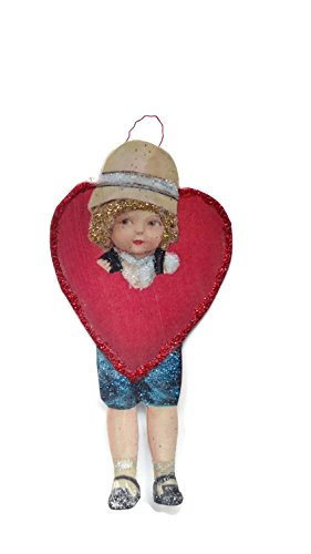 Valentine's Day Card Ornament Decoration Victorian Heart Love Child Handmade Holiday Gift