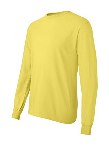 Hanes Men's ComfortSoft Long Sleeve T-Shirt,Yellow,Medium -