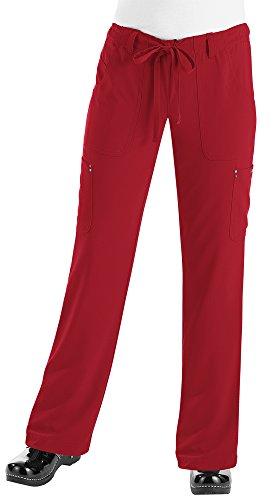 koi-womens-petite-alicia-easy-fit-mid-rise-drawstring-waist-scrub-pants-ruby-large-petite