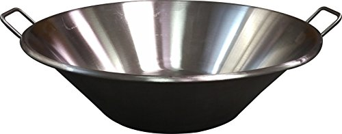 Bioexcel Cazos Para Carnitas Cooking Wok - Cazos Mexicanos Heavy Duty Stainless Steel Pot - Choose Many Sizes - This One is (Diameter 25'' / Depth 8'') by Bioexcel
