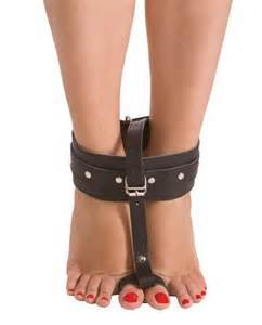 Leather Ankle to Toe Thumb Bondage Restraints Adjustable Unisex by Manhood Academy Made in US by Manhood Academy, USA