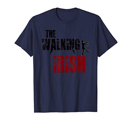 Walking Irish gift t shirts Ireland zombie b day costume -