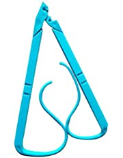 Book Pages OPen Clip Book Stand Reading Bracket Holder Book Mark Support Clamp Handsfree (Blue)