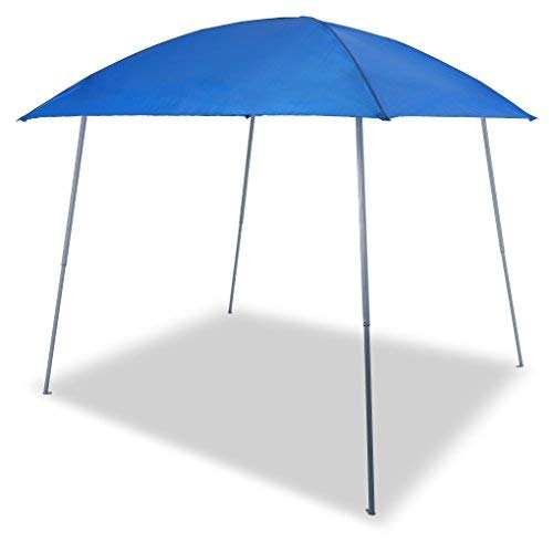 PHI VILLA Pop-up Slant Leg Canopy Tent, Lightweight for Camping, Beach and Sports - 8' x 8', Blue