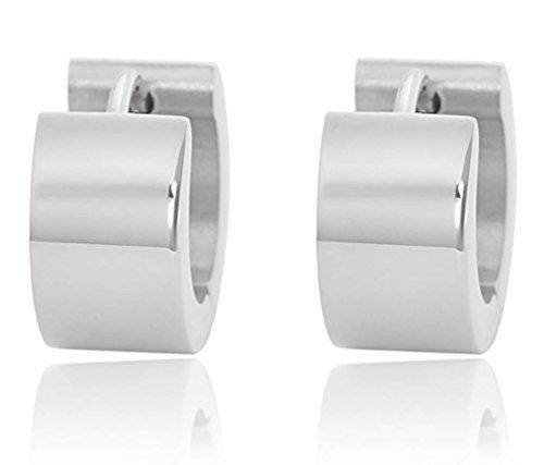 edforce-stainless-steel-womens-silver-huggie-hoop-earrings-hinged-back-hoops