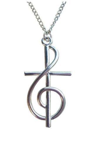 Amazoncom Treble Clef Cross Necklaces Jewelry