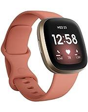Fitbit FB511GLPK Versa 3 Smart Watch, GPS - Pink and Gold